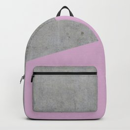 Concrete with Pink Lavender Color Backpack
