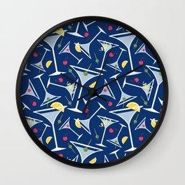 Blue Martinis Wall Clock
