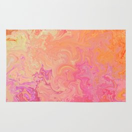 Swirling Warm Paint Colors Rug