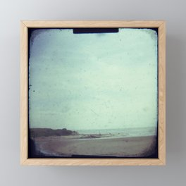 Deserted beach Framed Mini Art Print