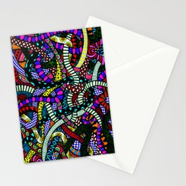 Snaking Doodles Zentangle Stationery Cards