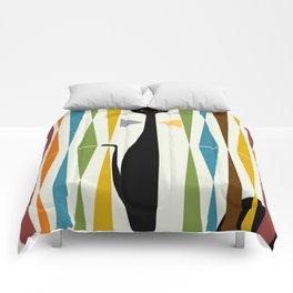 Mid-Century Modern Art Cat 2 Comforters