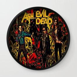 Ash Faces Many Evils Wall Clock