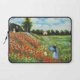 Claude Monet - Poppy Field at Argenteuil Laptop Sleeve