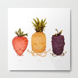 fruit yoga 3 Metal Print