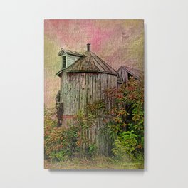 Silo In Overgrowth Metal Print