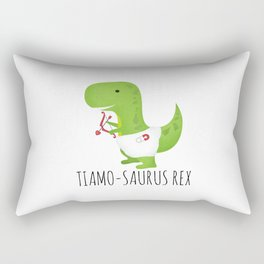Tiamo-saurus Rex Rectangular Pillow