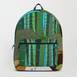 Bamboo Temple in Japan Backpack