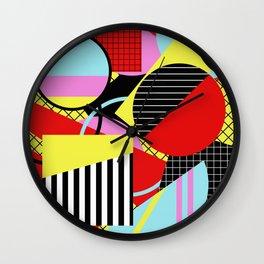 Retro Geometry - Geometric, abstract, bold design Wall Clock