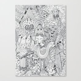 Monsters In My Closet Canvas Print