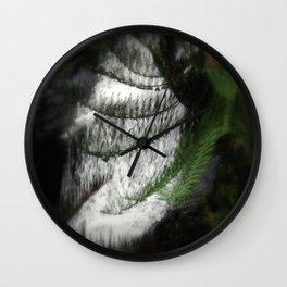 Fern filtering Waterfall Wall Clock