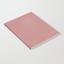 Color Block Lines XVI Berry Notebook