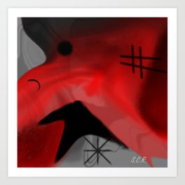 Red Blanket Abstract By Saribelle Rodriguez Art Print