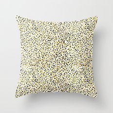 Salna - gold foil modern black and gold gender neutral art abstract design decor minimal trendy urba Throw Pillow