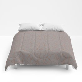 Cavern Clay SW 7701 Abstract Crescent Shape Pattern on Slate Violet Gray SW9155 Comforters