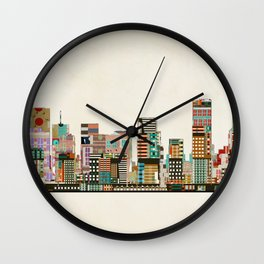 portland oregon skyline Wall Clock