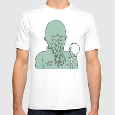 ood Mens Fitted Tee White MEDIUM