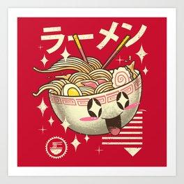 Kawaii Ramen Art Print