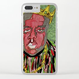 KING OF NEW YORK Clear iPhone Case