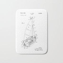 patent art Court Sailboat 1964 Bath Mat