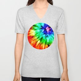 Tie Dye Meets Watercolor Unisex V-Neck