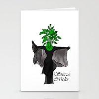 stevie nicks Stationery Cards featuring Stevia Nicks by Pattavina