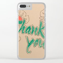 calligraphy, caligraphy, thank you, wall art, thank you card, home decoration, Yokohama, Clear iPhone Case