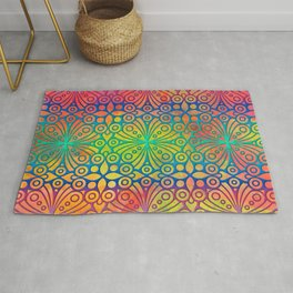 DP050-3 Colorful Moroccan pattern Rug