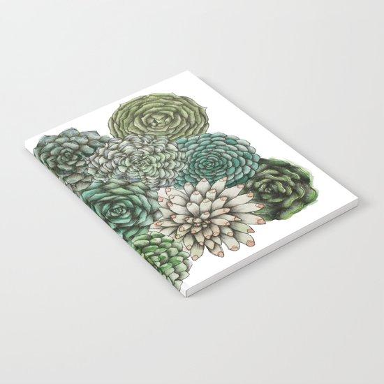 An Assortment of Succulents Notebook