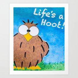 Life's a Hoot! Owl Canvas Art & Print Art Print