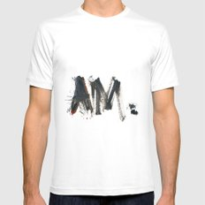 AM Mens Fitted Tee White MEDIUM