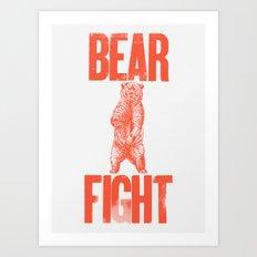 Bear Fight Art Print