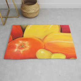 Fruit - Pastel Illustration Rug