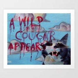 a wild cougar Art Print