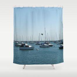 Chicago Sail Boats, Lake Michigan Shoreline Shower Curtain