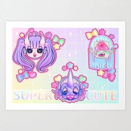 SUPER CUTE MONSTER GALS Art Print