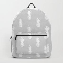 Pineapples - White on Gray Backpack