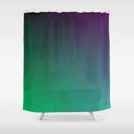 Peacock Green purple blue black ombre waves Shower Curtain