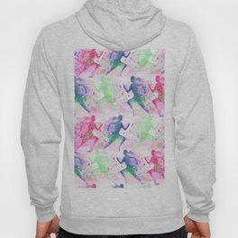 Watercolor women runner pattern Hoody