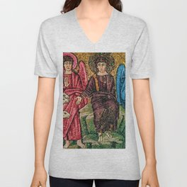 Judgement Day of the Sheep and the Goats Mosiac Basilica of Saint Apollinare Nuovo, Ravenna, Italy Unisex V-Neck