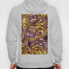 funky melted purple and gold Hoody