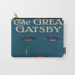 The Great Gatsby vintage book cover - Fitzgerald - muted tones Carry-All Pouch