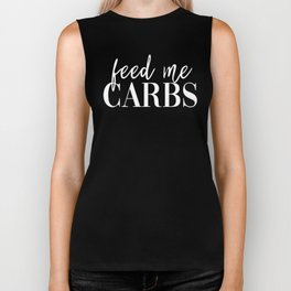 Feed me carbs Biker Tank