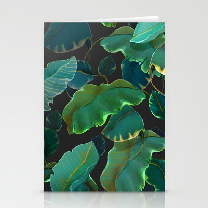 floating leaves Stationery Cards