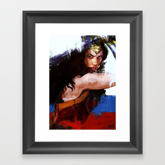 Diana Gerahmter Kunstdruck