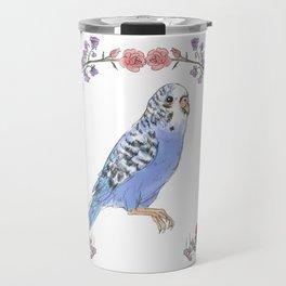 Parakeet in Purple Travel Mug