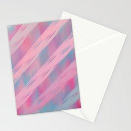 Pink blush tones geometrical artistic brushstrokes stripes Stationery Cards