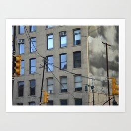 nyc clouds Art Print