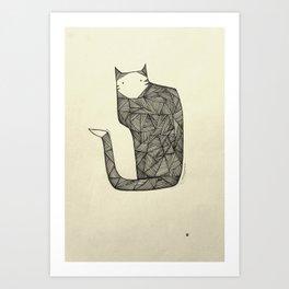 That's a Stripy Cat Art Print
