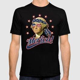 Funny Patriotic President George Washington 'Merica T-shirt